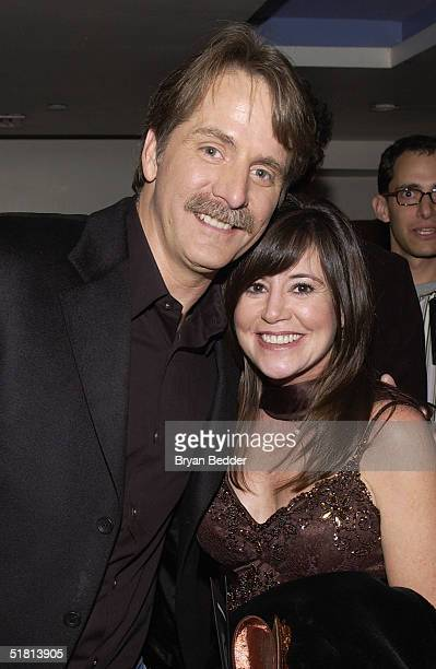 Comedian Jeff Foxworhty and wife Gregg attend the Comedy Centrals Jeff Foxworthy Roast December 1 2004 in New York City