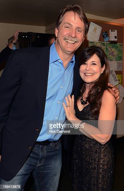 Comedian Jeff Foxworthy and his Wife Gregg Foxworthy attend The Boortz Happy Ending at The Fox Theater on January 12 2013 in Atlanta Georgia