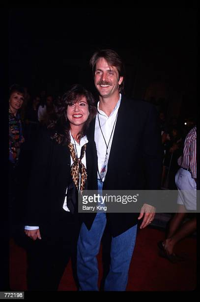 Comedian Jeff Foxworthy and his wife Pamela attend the opening of Planet Hollywood September 17 1995 in Los Angeles CA The Beverly Hills branch had...