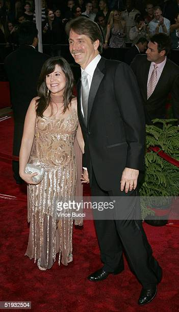 Comedian Jeff Foxworthy and wife Pamela Gregg arrive at the 31st Annual People's Choice Awards in the Pasadena Civic Auditorium on January 9 2005 in...