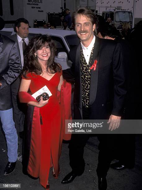 Comedian Jeff Foxworthy and wife Pamela Gregg attend the 23rd Annual American Music Awards on January 29 1996 at Shrine Auditorium in Los Angeles...