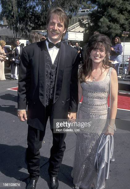 Comedian Jeff Foxworthy and wife Pamela Gregg attend the 31st Annual Academy of Country Music Awards on April 24 1996 at Universal Amphitheatre in...