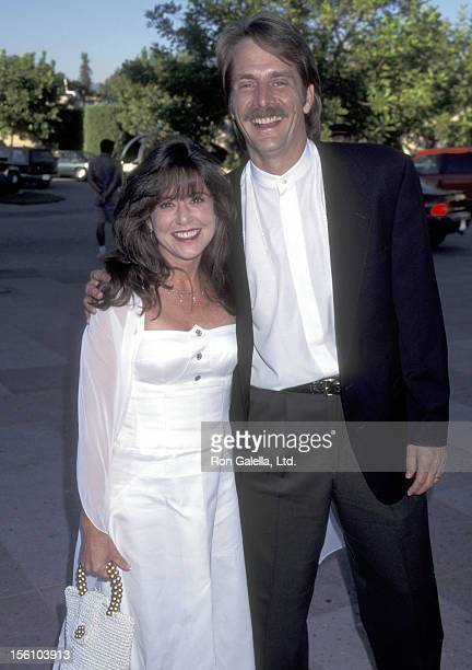 Comedian Jeff Foxworthy and wife Pamela Gregg attend the 'ABC Summer TCA Press Tour' on July 20 1995 at RitzCarlton Hotel in Pasadena California