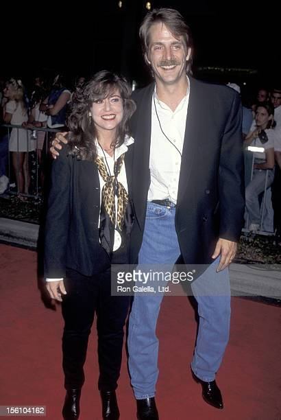 Comedian Jeff Foxworthy and wife Pamela Gregg attend the 'Grand Opening of Planet Hollywood' on September 17 1995 at Planet Hollywood in Beverly...
