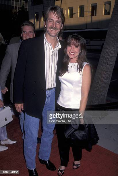 Comedian Jeff Foxworthy and wife Pamela Gregg attend the 'Phenomenon' Beverly Hills Premiere on June 28 1996 at Samuel Goldwyn Theatre in Beverly...