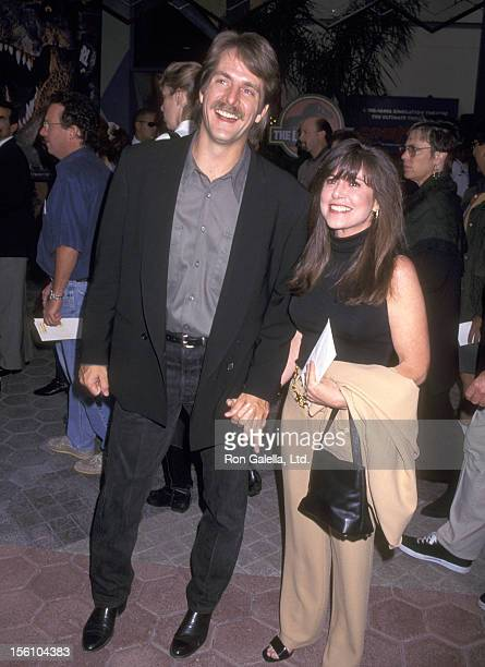 Comedian Jeff Foxworthy and wife Pamela Gregg attend the Universal City Premiere of 'The Lost World Jurassic Park' on May 19 1997 at Cineplex Odeon...