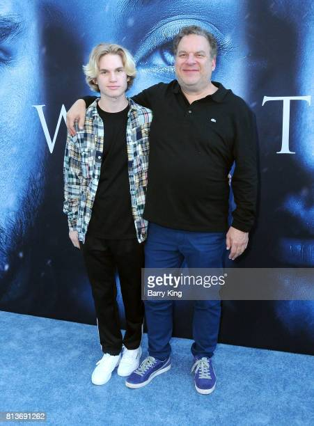 Comedian Jeff Garlin and son Duke Garlin attend the Premiere of HBO's 'Game Of Thrones' Season 7 at Walt Disney Concert Hall on July 12 2017 in Los...