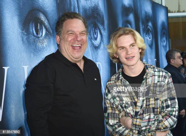 Comedian Jeff Garlin at the Los Angeles Premiere for the seventh season of HBO's Game Of Thrones at Walt Disney Concert Hall on July 12 2017 in Los...