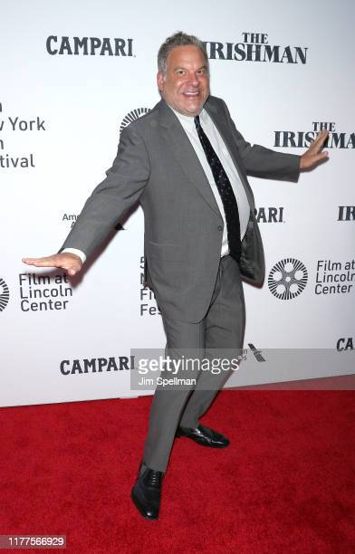 """Comedian Jeff Garlin attends the """"The Irishman"""" premiere during the 57th New York Film Festival at Alice Tully Hall, Lincoln Center on September 27,..."""