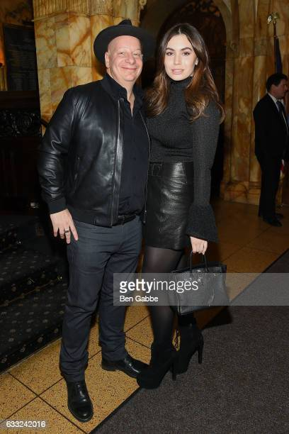 Comedian Jeff Ross and actress Sophie Simmons attend the after party of Sony Pictures Classics' 'The Comedian' hosted by The Cinema Society at The...
