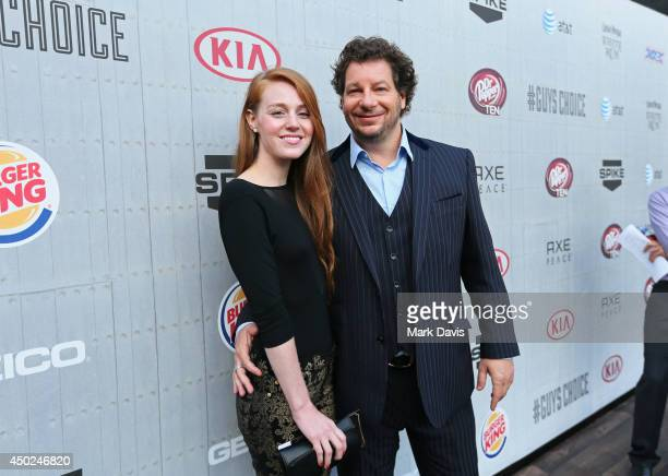 Comedian Jeff Ross and Kate Blanch attend Spike TV's Guys Choice 2014 at Sony Pictures Studios on June 7 2014 in Culver City California