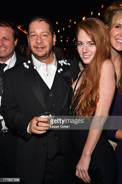 Comedian Jeff Ross and Kate Blanch attend The Comedy Central Roast Of James Franco after party at Culver Studios on August 25 2013 in Culver City...