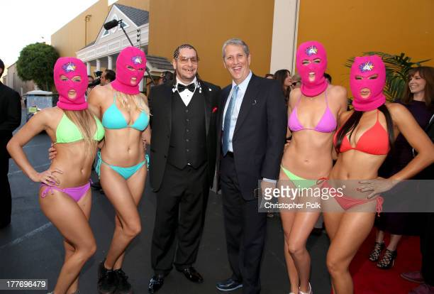 Comedian Jeff Ross and Viacom Entertainment Group President Doug Herzog attend The Comedy Central Roast of James Franco at Culver Studios on August...