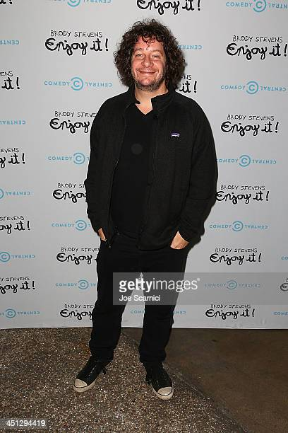 Comedian Jeff Ross arrives at the Brody Stevens Enjoy It Premiere Party at Smogshoppe on November 21 2013 in Los Angeles California