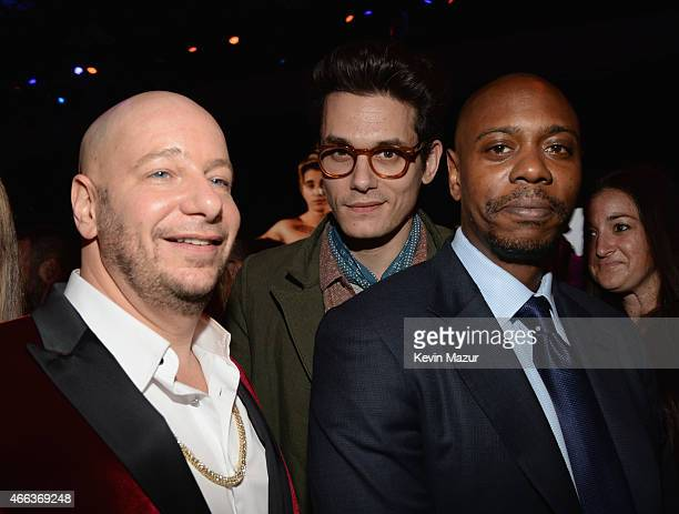 Comedian Jeff Ross recording artist John Mayer and comedian Dave Chappelle attend the after party for The Comedy Central Roast of Justin Bieber at...