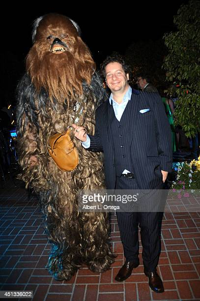 Comedian Jeffrey Ross and Chewbecca of Dark Side Riders attend the After Party for the 40th Annual Saturn Awards held at on June 26 2014 in Burbank...