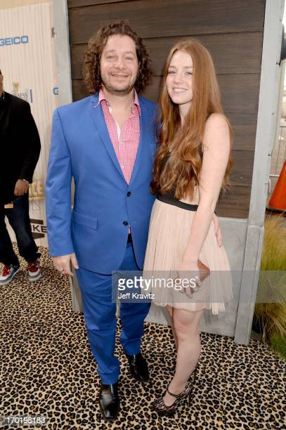 Comedian Jeffrey Ross and guest attend Spike TV's 'Guys Choice 2013' at Sony Pictures Studios on June 8 2013 in Culver City California
