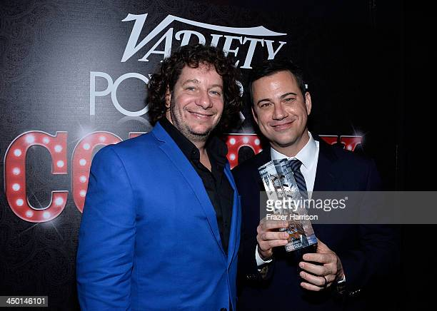 Comedian Jeffrey Ross and honoree Jimmy Kimmel attend Variety's 4th Annual Power of Comedy presented by Xbox One benefiting the Noreen Fraser...