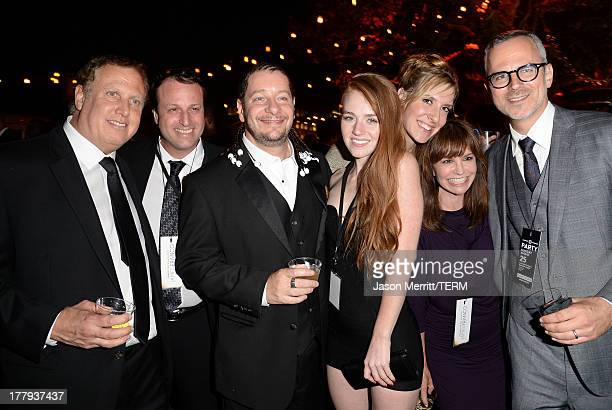 Comedian Jeffrey Ross and Kate Blanch attend The Comedy Central Roast of James Franco after party at Culver Studios on August 25 2013 in Culver City...