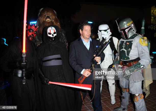 Comedian Jeffrey Ross and members of Dark Side Riders attend the After Party for the 40th Annual Saturn Awards held at on June 26 2014 in Burbank...