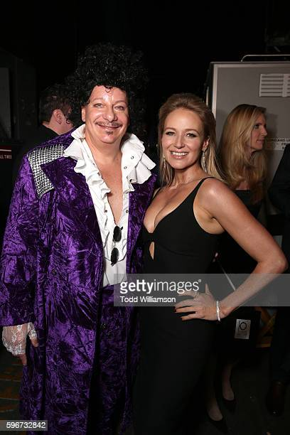 Comedian Jeffrey Ross and singer Jewel attend The Comedy Central Roast of Rob Lowe at Sony Studios on August 27 2016 in Los Angeles California The...