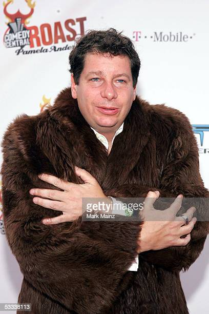 Comedian Jeffrey Ross arrives at the Comedy Central Roast of Pamela Anderson at Sony Studios on August 7 2005 in Culver City California
