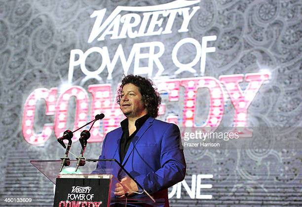 Comedian Jeffrey Ross onstage during Variety's 4th Annual Power of Comedy presented by Xbox One benefiting the Noreen Fraser Foundation at Avalon on...