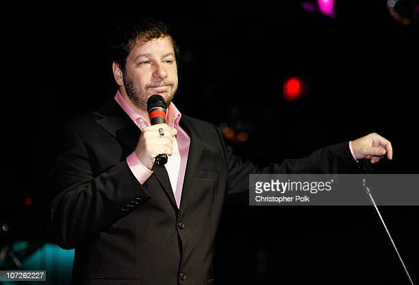 Comedian Jeffrey Ross performs during 'Playing for Laughs' A Benefit to Build a Playground for the Junius Street Women In Need Shelter at Pacha...
