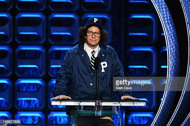 Comedian Jeffrey Ross speaks onstage at the Comedy Central Roast of Roseanne Barr at Hollywood Palladium on August 4 2012 in Hollywood California