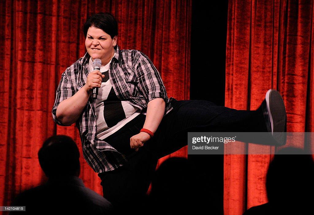 Comedian Jen Kober performs at grand opening Brad Garrett ... Brad Garrett Comedy Club Mgm