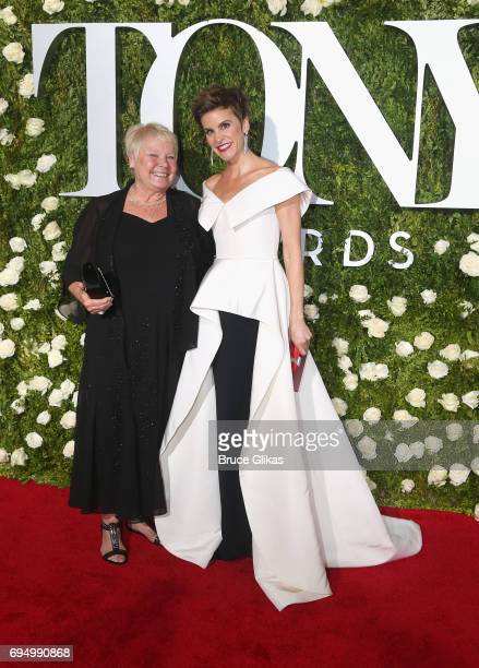 Comedian Jenn Colella and guest attend the 71st Annual Tony Awards at Radio City Music Hall on June 11 2017 in New York City