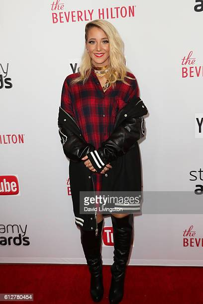 Comedian Jenna Marbles arrives at the 2016 Streamy Awards at The Beverly Hilton Hotel on October 4 2016 in Beverly Hills California