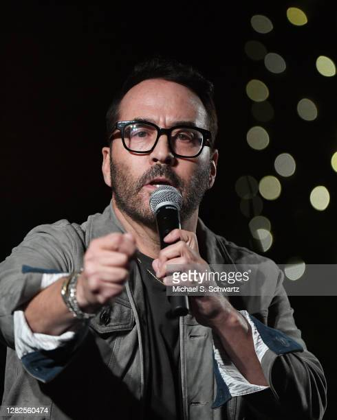 Comedian Jeremy Piven performs during his appearance at Hotel Cafe on October 26 2020 in Los Angeles California