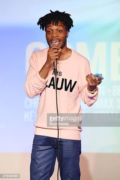 Comedian Jermaine Fowler performs onstage at the Vulture Festival Presents: Comedy Night at The Bell House on May 31, 2015 in Brooklyn, New York.