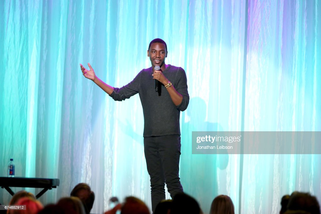 Comedian Jerrod Carmichael performs onstage at the UCLA Jonsson Cancer Center Foundation Hosts 22nd Annual 'Taste for a Cure' event honoring Yael and Scooter Braun at the Regent Beverly Wilshire Hotel on April 28, 2017 in Beverly Hills, California.