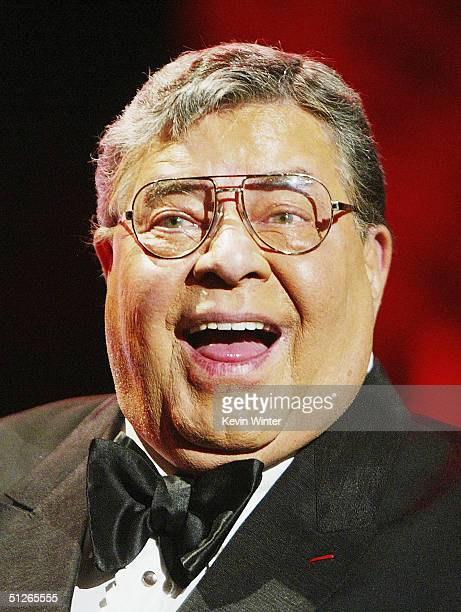 Comedian Jerry Lewis kicks off the 39th Annual Jerry Lewis MDA Labor Day Telethon at CBS Television City on September 5 2004 in Los Angeles California