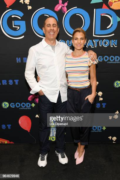 Comedian Jerry Seinfeld and Founder of GOOD foundation Jessica Seinfeld attend GOOD Foundation's 2018 NY Bash sponsored by Hearst on May 31 2018 in...