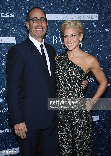 Comedian Jerry Seinfeld and Jessica Seinfeld attend 2014 Women's Leadership Award Honoring Stella McCartney at Alice Tully Hall at Lincoln Center on...