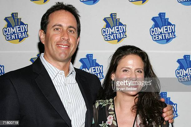Comedian Jerry Seinfeld and Rodney Dangerfield's daughter Melanie RoyFriedman attend the Comedy Central special screening of Legends Rodney...