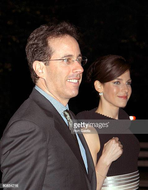 Comedian Jerry Seinfeld and wife Jessica Seinfeld arrive at the 7th Annual Tribeca Film Festival Vanity Fair Party on April 22 2008 at the State...