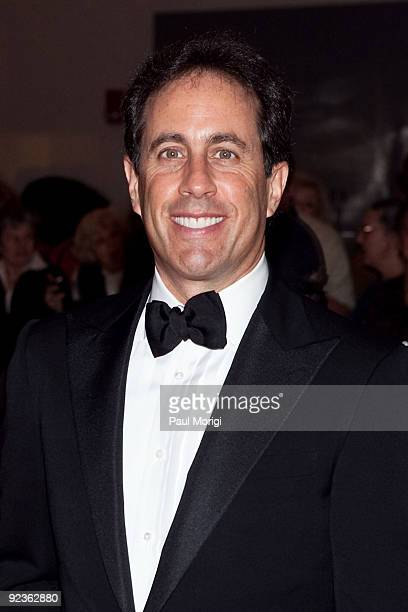 Comedian Jerry Seinfeld arrives at the 12th Annual Mark Twain Prize at the John F Kennedy Center for the Performing Arts on October 26 2009 in...