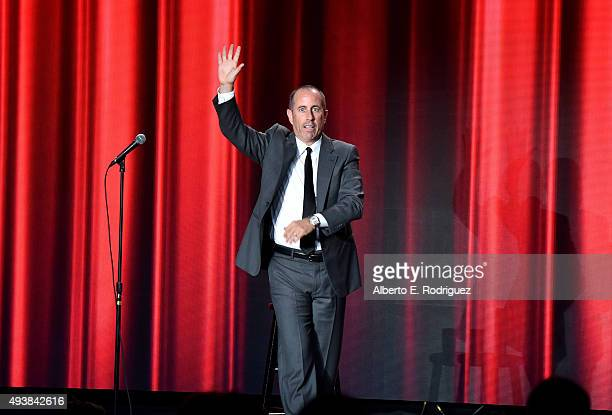 Comedian Jerry Seinfeld attends the American Friends Of Magen David Adom's Red Star Ball at The Beverly Hilton Hotel on October 22 2015 in Beverly...