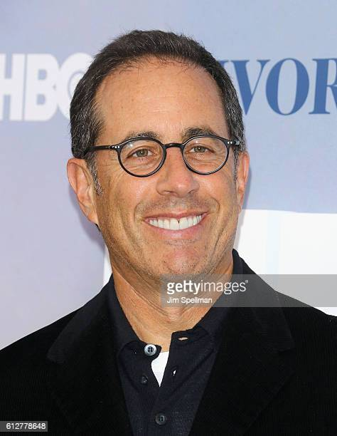 Comedian Jerry Seinfeld attends the 'Divorce' New York premiere at SVA Theater on October 4 2016 in New York City