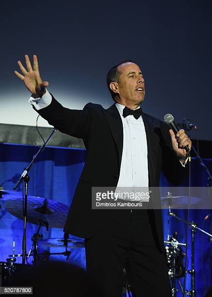 Comedian Jerry Seinfeld performs onstage during the Foundation Fighting Blindness World Gala at Cipriani 42nd Street on April 12 2016 in New York City
