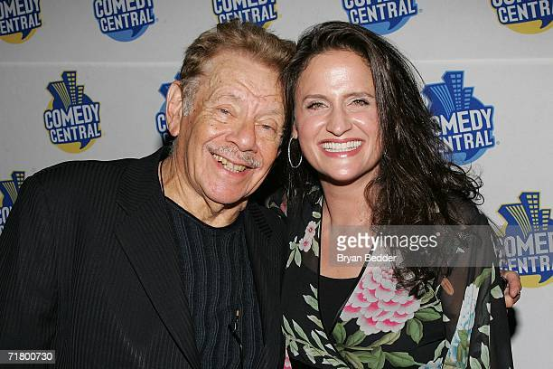 Comedian Jerry Stiller and Rodney Dangerfield's daughter Melanie RoyFriedman attend the Comedy Central special screening of Legends Rodney...