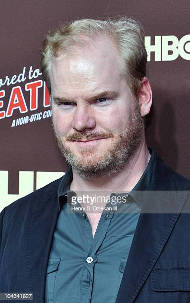 Comedian Jim Gaffigan attends HBO's Bored To Death premiere at Jack H Skirball Center for the Performing Arts on September 21 2010 in New York City