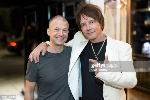 Comedian Jim Norton and Artist and Guitar Player Billy Morrison attend the Billy Morrison Aude Somnia Solo Exhibition at Elisabeth Weinstock on...