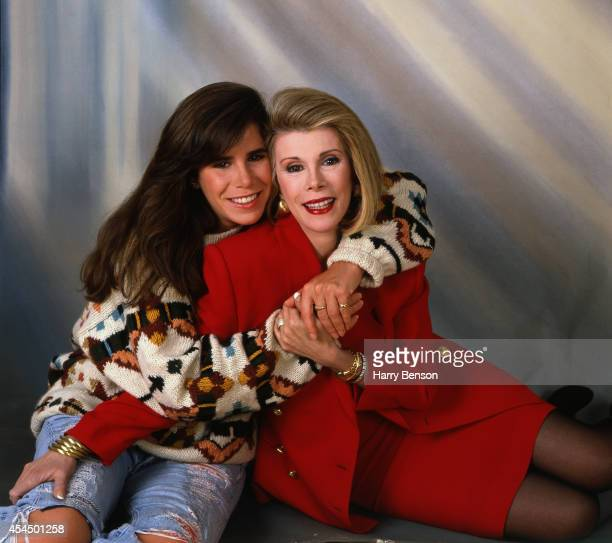 Comedian Joan Rivers and daughter Melissa Rivers are photographed for People Magazine in 1990 in New York City