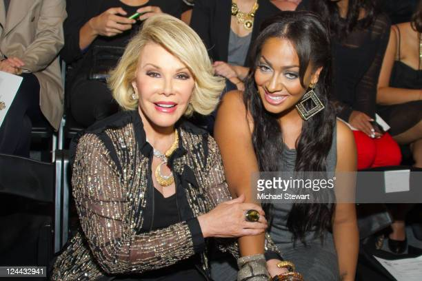 Comedian Joan Rivers and La La Anthony attend the Falguni and Shane Peacock Spring 2012 fashion show during Mercedes-Benz Fashion Week at The Studio...