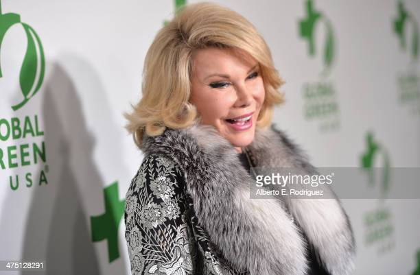 Comedian Joan Rivers attends Global Green USA's 11th Annual PreOscar party at Avalon on February 26 2014 in Hollywood California